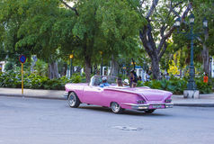 Old classic car in Cuba Royalty Free Stock Photography