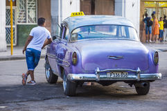 Old classic car in Cuba Stock Image