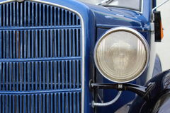 Old classic car front detail oldtimer front lamp Stock Photography