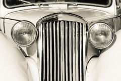 Old classic car front detail Royalty Free Stock Photos