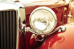 Old classic car front detail Stock Photos