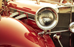 Old classic car front detail Stock Images