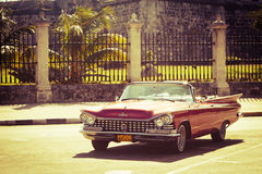 Old classic car in Havana, Cuba Stock Images