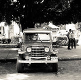 Old classic car in Havana, Cuba Royalty Free Stock Images