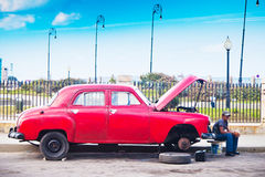 Old classic car in Havana, Cuba Royalty Free Stock Photo