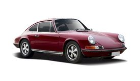 Old classic car Porsche 911 Stock Images