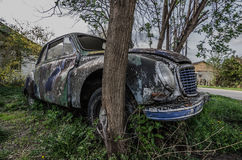 Old classic car side Royalty Free Stock Photo