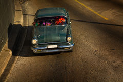Old Classic Car on a street of Havana, Cuba.  Royalty Free Stock Image
