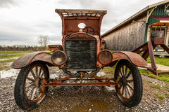 Old classic car. View of the old classic car Royalty Free Stock Image