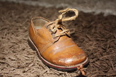 Old  classic children shoe Stock Photo