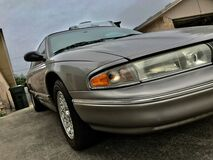Old classic Chrysler gray 1997 Stock Photography