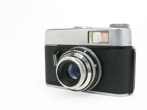 Old classic film camera with clipping path. Old 35mm film camera over white background with clipping path Royalty Free Stock Image
