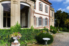 Old classic french manor view Stock Images