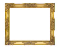 Old classic golden picture frame with clipping path royalty free stock photography