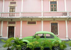 Old classic green car Royalty Free Stock Photos