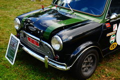 Old classic green car inlet details Royalty Free Stock Image