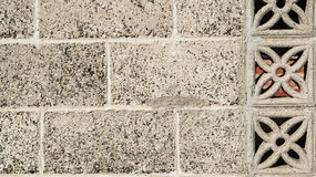 Old classic grey brick chinese style wall texture background Royalty Free Stock Photography