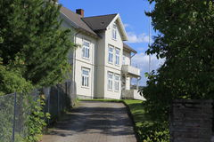 Old classic house in  Trondheim Royalty Free Stock Photo