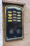 Old classic intercom in Rome, Italy Royalty Free Stock Images