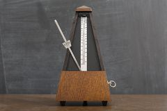 Old Classic Metronome Stock Photography