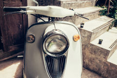 Old classic motorcycle with vintage filter Royalty Free Stock Photo