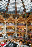 Old (classic) part of Galleries Lafayette. Department store in Paris, France Royalty Free Stock Photos