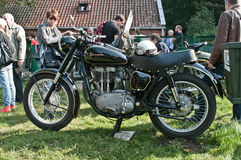 Old classic Polish motorcycle Junak Royalty Free Stock Photo