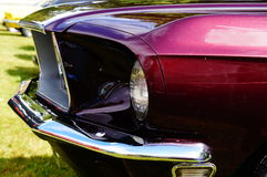 Old classic red car inlet details Royalty Free Stock Images