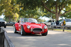 Old classic red sports car Stock Images