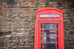 Old classic red telephone booth Royalty Free Stock Photos