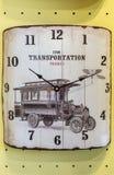 Old Classic Retro Wall Clock Stock Photo