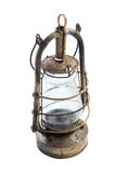 Old classic rustic oil lamp on white background Royalty Free Stock Image