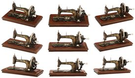 Old classic sewing machine (different angles) Stock Images