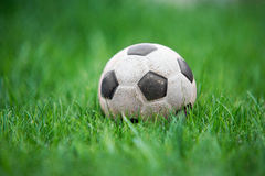 Old and classic Soccer ball Stock Photo