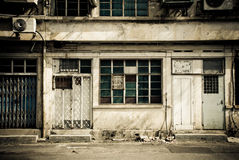 Old classic street of chinese old home Royalty Free Stock Image