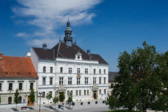 Old classic style building. Town hall in Valtice, Valtice-Lednice area, Czech Republic Stock Image