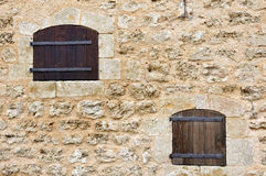 Old classic style windows. Royalty Free Stock Image