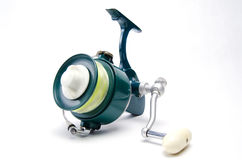 4326f7426dfbf Fly Rod with Bass Popper. An Old Classic Surf Fishing Reel stock photo
