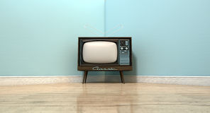 Old Classic Television In A Room Royalty Free Stock Photos