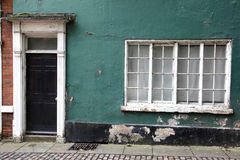 Old classic victorian door. And window in England, UK Royalty Free Stock Image