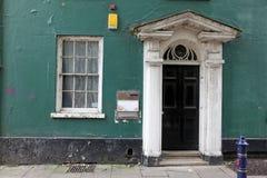Old classic victorian door and window Stock Images