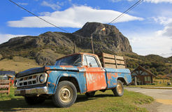 Old classic vintage truck in El Chalten, Argentina Stock Photo
