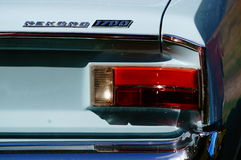 Old classic white car inlet details Royalty Free Stock Images