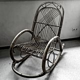 Old classical chair black and white Royalty Free Stock Photography