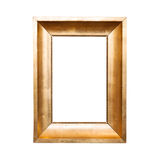 Old classical wooden frame isolated on white Royalty Free Stock Photo