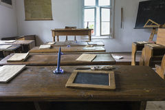 Old classroom interior Stock Photography
