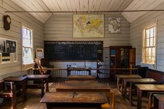 Old Classroom. What a school class room look like in the old days Royalty Free Stock Image