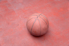 Old clay basketball court Royalty Free Stock Images