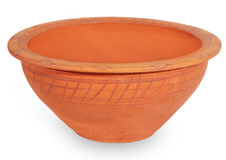 Old clay bowl Stock Photography