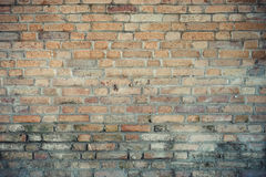 Old clay brick wall Royalty Free Stock Photography